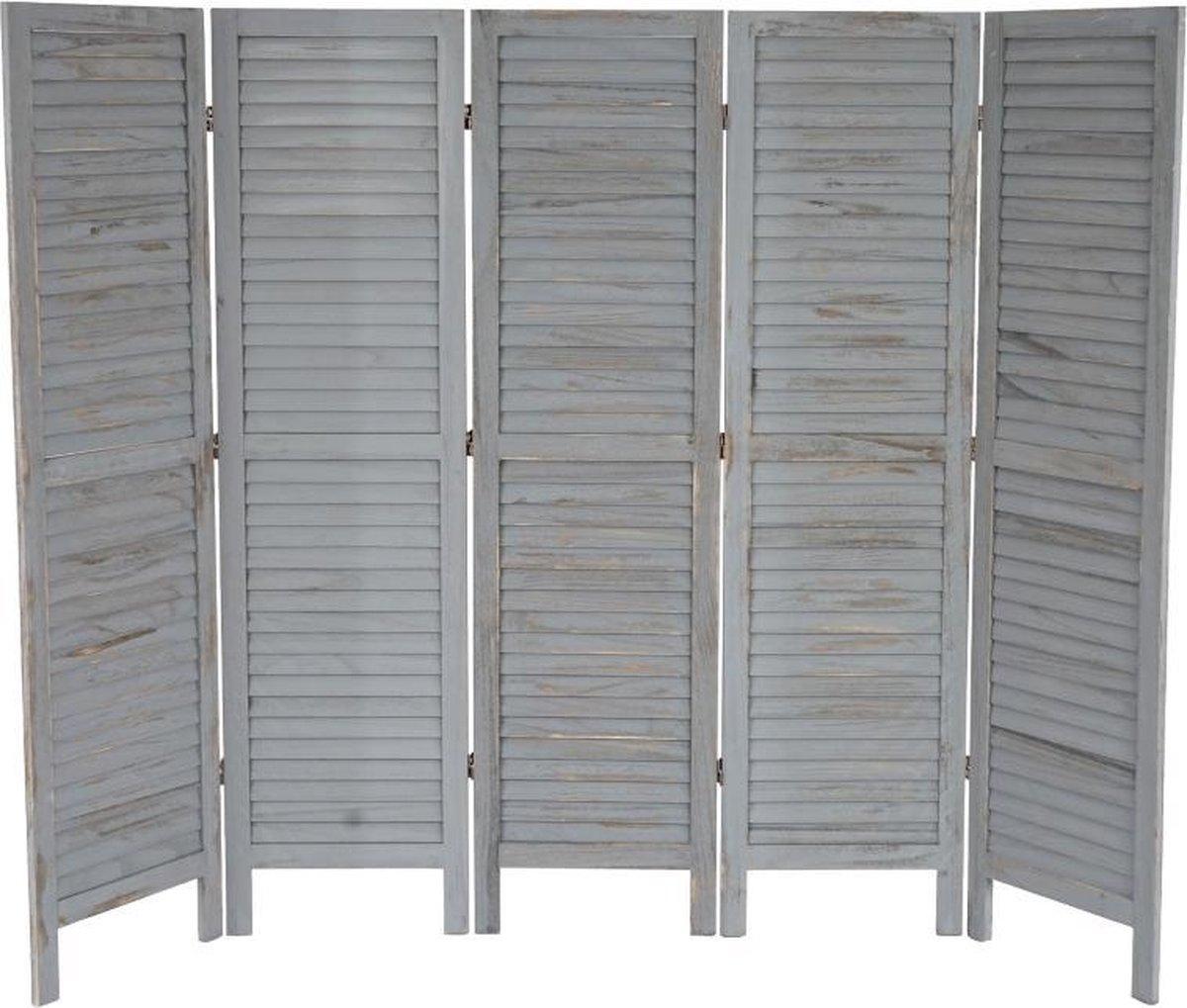 Scheidingswand-Shabby-look-grijs-5-platen - Brulo