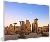 Foto in lijst - Schitterende zonsondergang bij Luxor fotolijst wit 60x40 cm - Poster in lijst (Wanddecoratie woonkamer / slaapkamer)