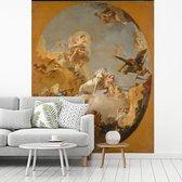 Fotobehang vinyl - The Chariot of Aurora - Schilderij van Giovanni Battista Tiepolo breedte 185 cm x hoogte 230 cm - Foto print op behang (in 7 formaten beschikbaar)