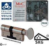 M&C anti kerntrek SKG*** K32/32 veiligheids knopcilinder met PKVW erkenning en PR08 beschermd profiel