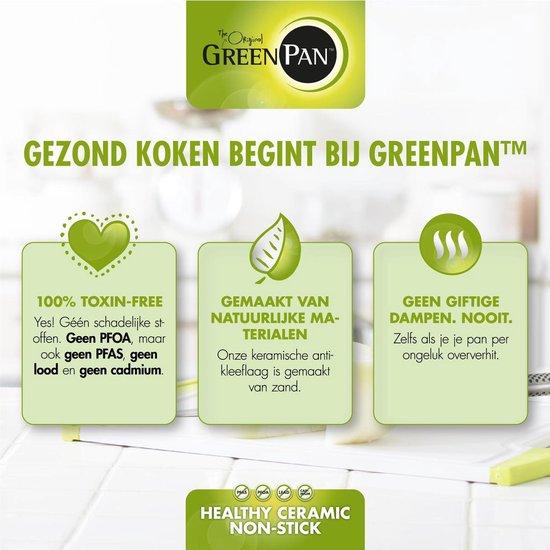 GreenPan Brussels Keramische Pannenset - Koekenpan Ø28 cm + Wokpan Ø28cm - Inductie