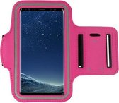 Iphone XS Max Sportband hoes Sport armband hoes Hardloopband Roze Pearlycase