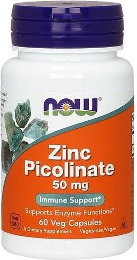 Now Foods - Zinc Picolinate 50 mg - 120 Vegicaps