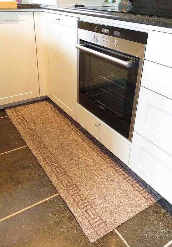 Keukenloper op maat beige 50cm - 50 x 140 cm