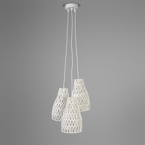 QAZQA Lina 3 - Hanglamp - 3 lichts - 350 mm - wit