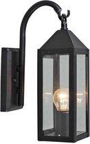 QAZQA Bussum - Wand lantaarn - 1 lichts - 105 mm - zwart