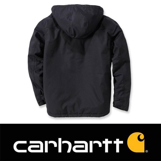 | Carhartt Insulated Shoreline Jacket Zwart Regenjas