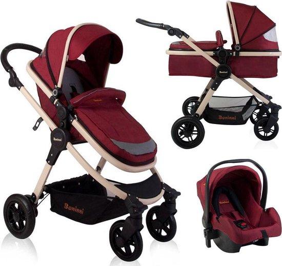 Baninni Kinderwagen Ayo - 3-in-1 - Misty Red