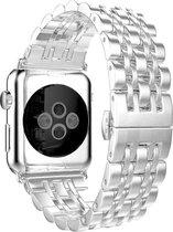 Apple watch rvs schakel band - zilver - 42mm en 44mm