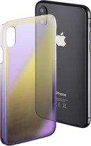 """Hama Cover """" Mirror"""" voor Apple iPhone X, geel/lila"""