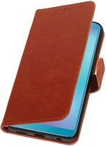 Wicked Narwal   Premium bookstyle / book case/ wallet case voor Samsung Samsung Galaxy A6s Bruin