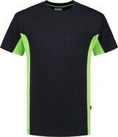 Tricorp T-shirt Bi-Color - Workwear - 102002 - Navy-Limoengroen - maat XL