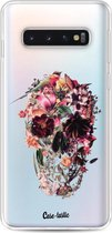 Samsung Galaxy S10 hoesje Transparent Skull Casetastic Smartphone Hoesje softcover case