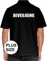 Beveiliging grote maten poloshirt zwart voor heren - security polo t-shirt 3XL