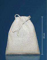 Canvas knikker zakje met koord 25 x 30 cm - opbergen - knikkeren.