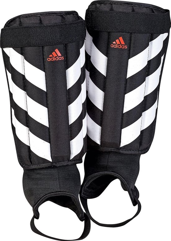 adidas Evertomic  Scheenbeschermer Unisex - Black/White/Solar Red