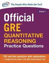 Boek cover Official GRE Quantitative Reasoning Practice Questions van Educational Testing Service