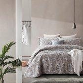 Dreamhouse Classic Flower - Bedsprei - 260x250 + 2 kussenslopen 60x70 - Grijs