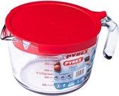 Maatbeker en Deksel, 1 liter - Pyrex | Classic Prepware
