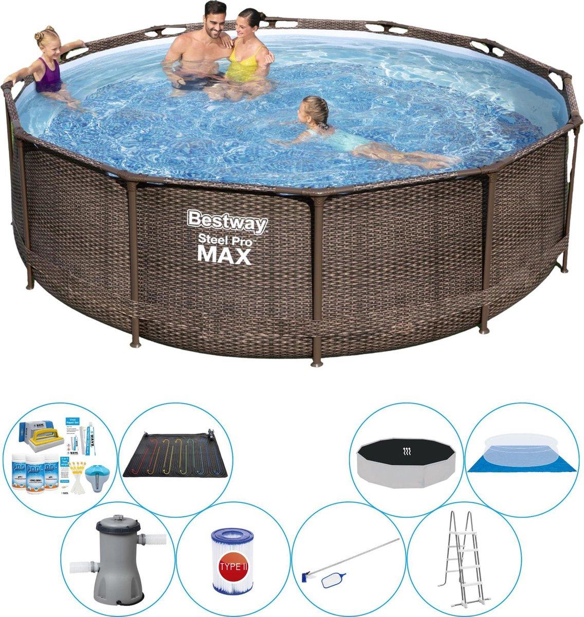 Zwembad Met Accessoires - Bestway Steel Pro MAX Rattan 366x100 cm
