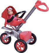 Bye Bye Baby Buggy - Poppenwagen met Babypop voor 46cm Pop