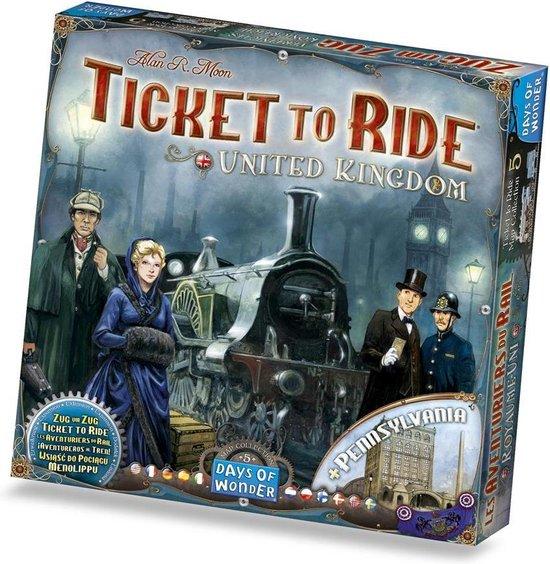 Ticket to Ride UK & Pennsylvania - Uitbreiding - Bordspel