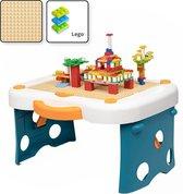 Decopatent® - Kinder Blokkentafel - Bouwtafel - Kindertafel - Watertafel - Zandtafel - Tekentafel - Geschikt voor Lego® Bouwstenen