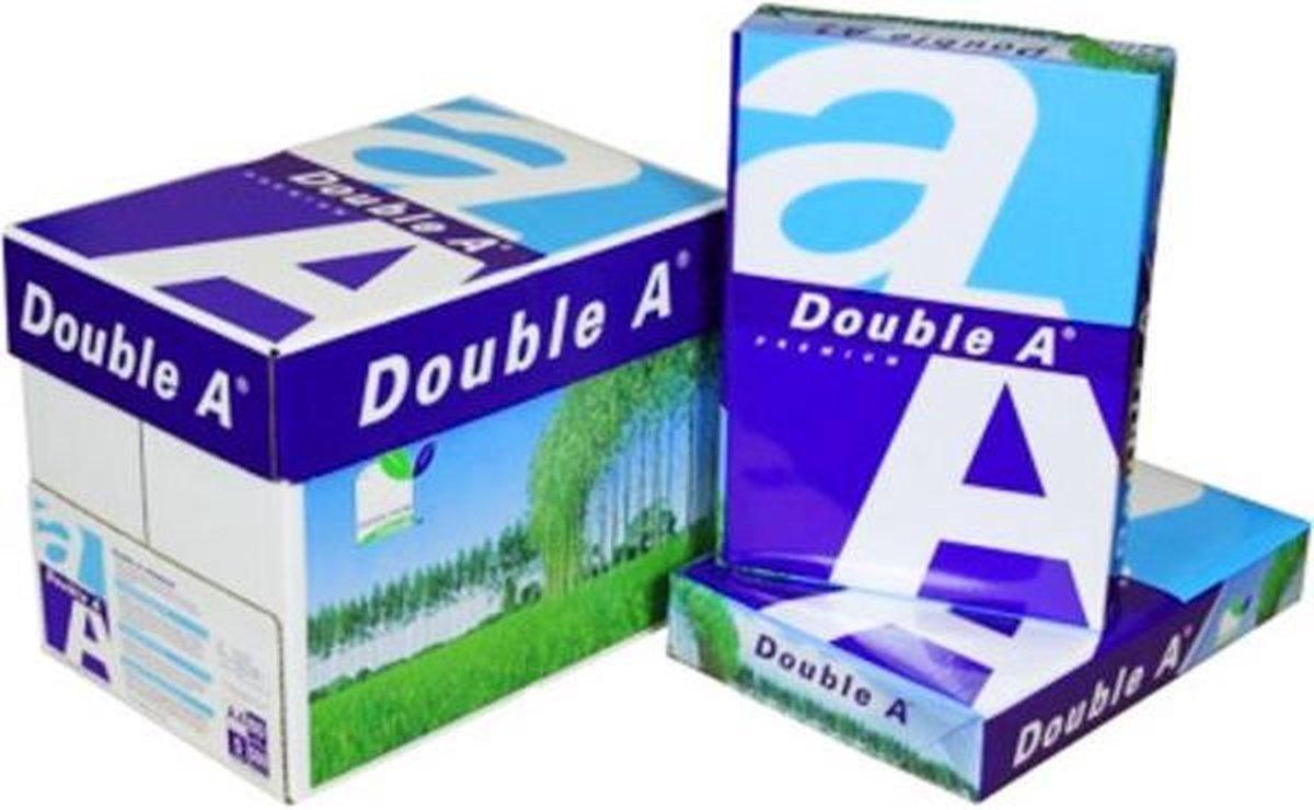 Double A printpapier - A4  - 1 DOOS -  5 pakken x 500 vel op De Prijzenvolger