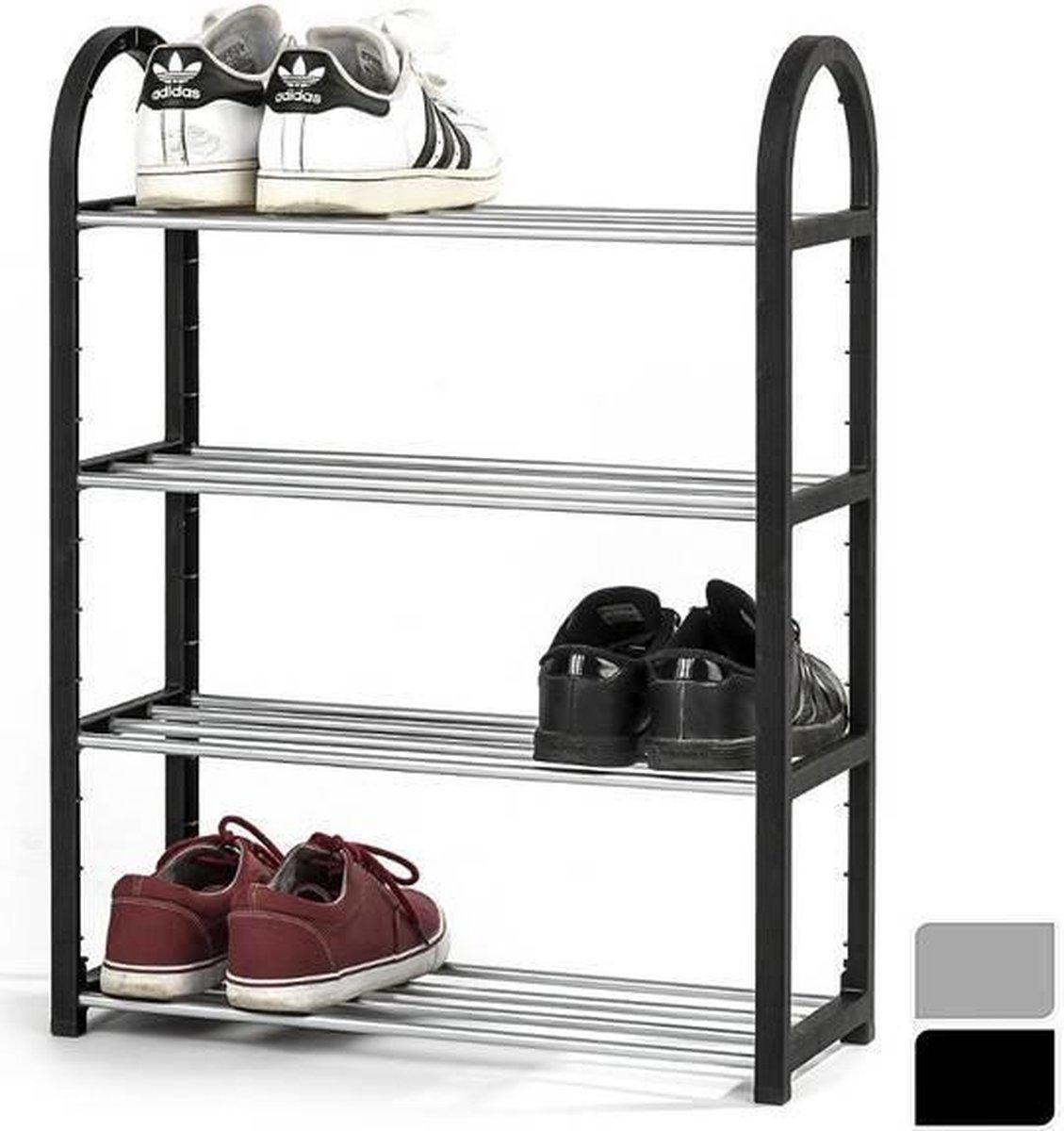 Mesa Living Schoenenrek - Voor 8 tot 12 Paar Schoenen - Zwart - Metaal