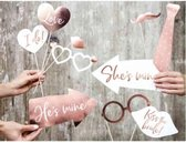 Photobooth props Wedding Rose Gold