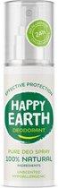 Happy Earth Pure Deodorant Spray Unscented 100 ml - 100% natuurlijk