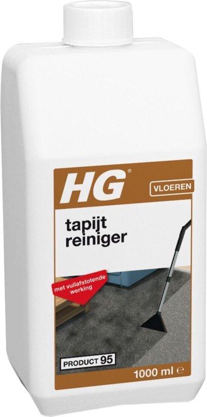 HG tapijtreiniger (product 95) - 1L - vuilafstotend effect - ook geschikt voor bekleding
