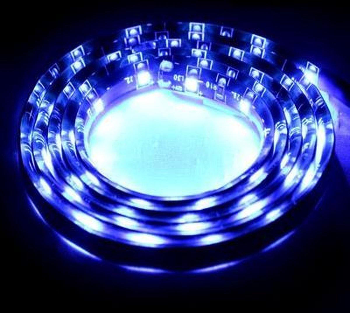 1.7W Blue Light 60 LED 3528 SMD Waterproof Flexibele Car Strip Light, DC 12V, lengte: 1m