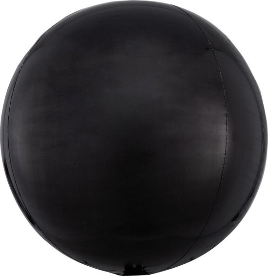 Orbz mat zwart folie ballon.