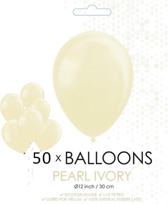 Globos Ballonnen 30,5 Cm Latex Ivoorwit Parelmoer 50 Stuks