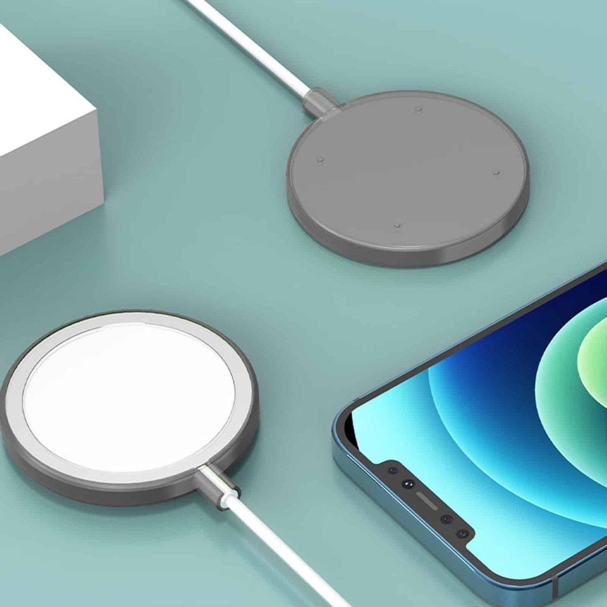 Schokbestendige siliconen + TPU beschermhoes voor iPhone 12 Pro Max MagSafe draadloze oplader (zwart)