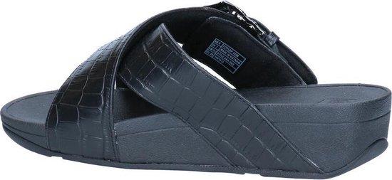 FitFlop Lulu Croco Zwarte Slippers Dames 41 REA8uU4p