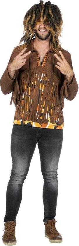 Hippie Kostuum | Relax Dude Hippie Jaren 60 Shirt Man | Maat 52 | Carnaval kostuum | Verkleedkleding