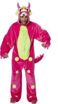Monster & Griezel Kostuum   Razend Roze Monster   Man   Maat 50   Halloween   Verkleedkleding