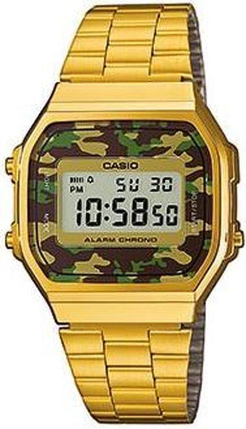 Casio A168WEGC-3EF horloge dames en heren - goud - kunststof