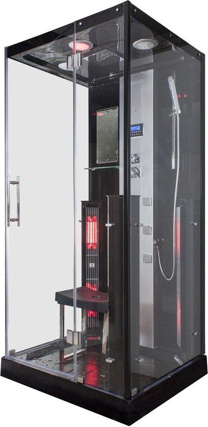 Sverra Rustica Infrarood Stoomcabine 1 persoons Black 90x100x215 cm Sauna met...