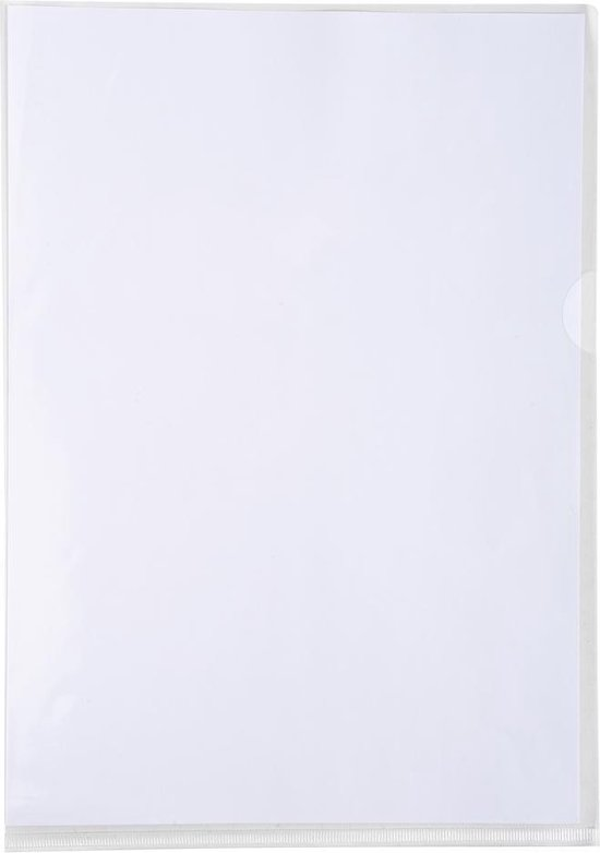 10x Pak van 10 L mappen - gladde PVC 13/100e - A4, Transparant