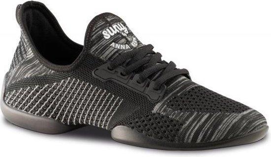 Dames Dans Sneaker met Splitzool Anna Kern Suny 110 Pureflex – Dansschoen Salsa, Stijldansen – Zwart/Grijs – Maat 36