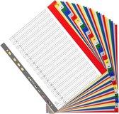 20x Tabbladen met bedrukte tabs in gekleurde PP - 31 tabs - 1 tot 31 - A4 maxi, Geassorteerde felle kleuren