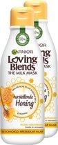 Garnier Loving Blends Milk Mask Honing Haarmasker - 2 x 250ml - Multiverpakking