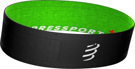 Compressport Free Belt Zwart-Lime