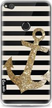 Casetastic Softcover Huawei P8 Lite (2017) - Glitter Anchor Gold