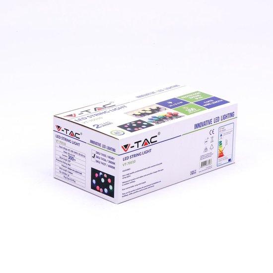 V-tac VT-70510 Lichtsnoer - Waterdicht - 10 LED Lampen - RGB - 5M