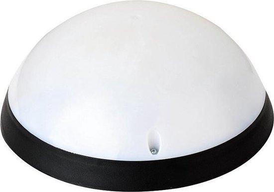 LED Plafondlamp - Opbouw Rond 12W - Waterdicht IP54 - Helder/Koud Wit 6400K - Mat Zwart Kunststof - BES LED