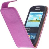 Wicked Narwal | Echt leder Classic Hoes voor Samsung Galaxy S3 i9300 Paars